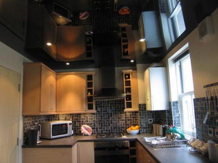 на кухне с газовой плитой